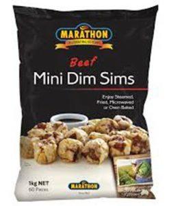 marathon mini beef dim sims