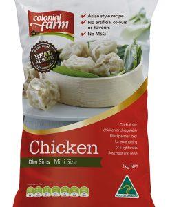 mini chicken dim sims colonial farm