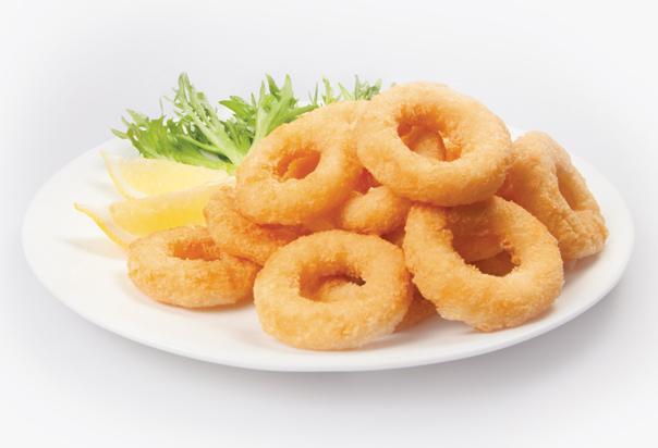Crumbed Squid Rings Formed Foodbiz Wholesale Distributors
